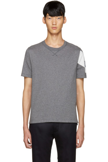 Moncler Gamme Bleu - Grey Detailed Sleeve T-Shirt
