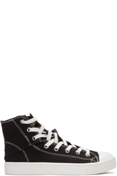 Miharayasuhiro - Black Twisted High-Top Sneakers