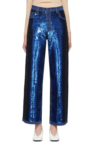 Ashish - Navy Sequin Jeans