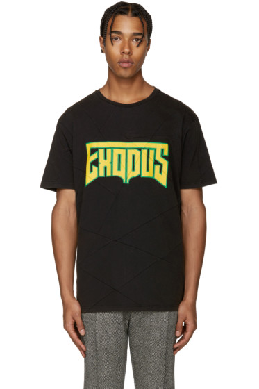 Palm Angels - Black & Yellow Exodus T-Shirt