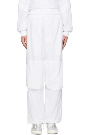 Perks and Mini - White Nylon Lounge Pants