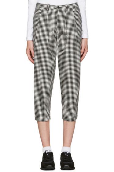Tricot Comme des Garçons - Black & White Gingham Trousers