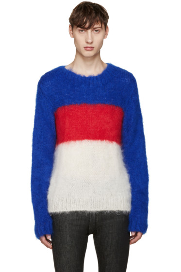 Ganryu - Tricolor Mohair Sweater