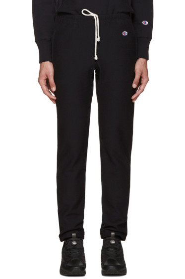 Champion Reverse Weave - Black Reverse Weave Terry Lounge Pants