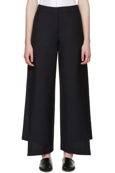 Acne Studios - Navy Wool Haddie Trousers
