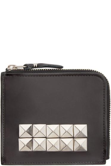 Comme des Garçons Wallets - Black Leather Studded Wallet