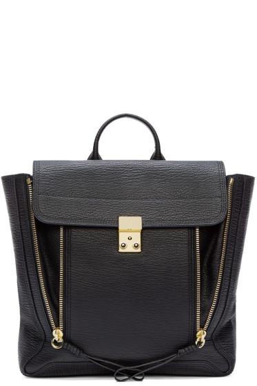 3.1 Phillip Lim - Black Leather Pashli Backpack