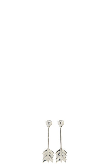 Pamela Love - SSENSE Exclusive Silver Shooting Arrow Earrings