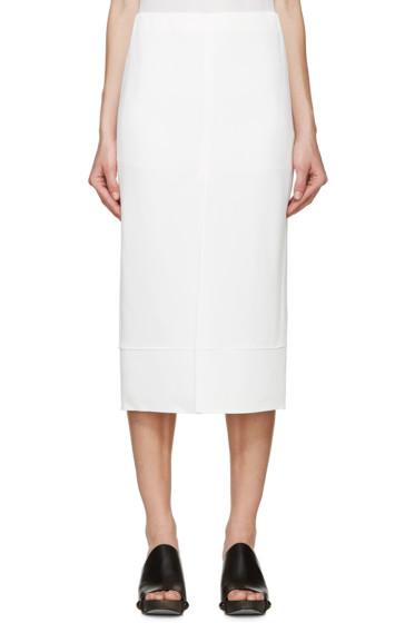 Chloé - White Cady Slit Skirt