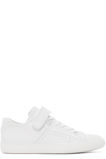 Pierre Hardy - White Leather Tennis Sneakers