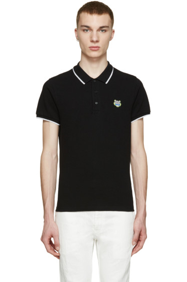 Kenzo - Black Embroidered Tiger Polo