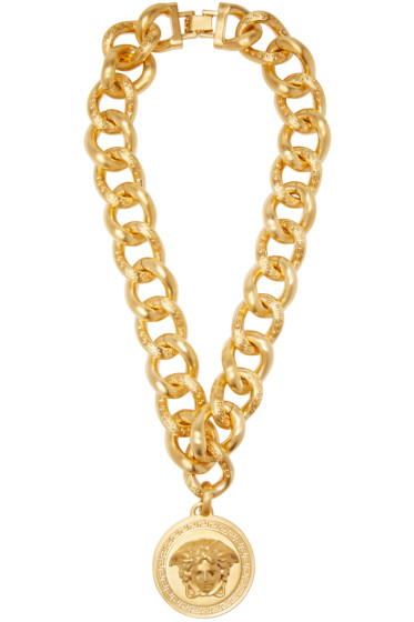 Versace - Gold Medusa Medallion Necklace