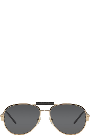 Versace - Gold Aviator Sunglasses