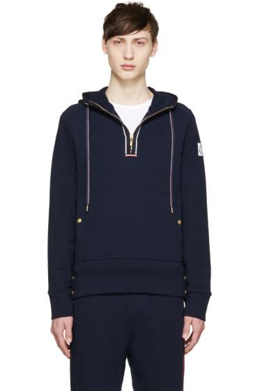 Moncler Gamme Bleu - Navy Half Zip Hoodie