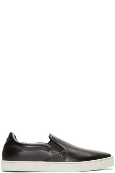 Burberry London - Black Slip-On Copford Sneakers