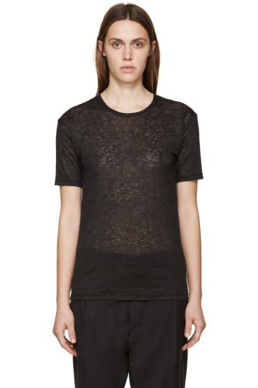Isabel Marant - Black Linen Madjo T-Shirt