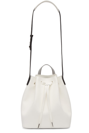 PB 0110 - White Leather AB 16 Bag