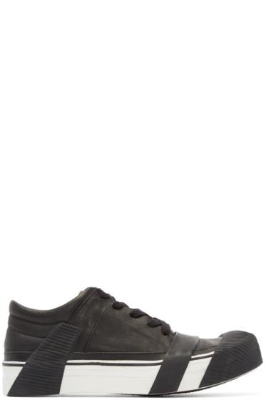 Boris Bidjan Saberi - Black Leather Bamba 3 Sneakers