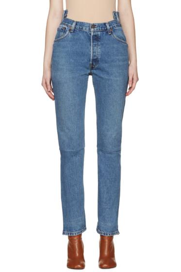 Vetements - Blue Reconstructed 1387 Jeans