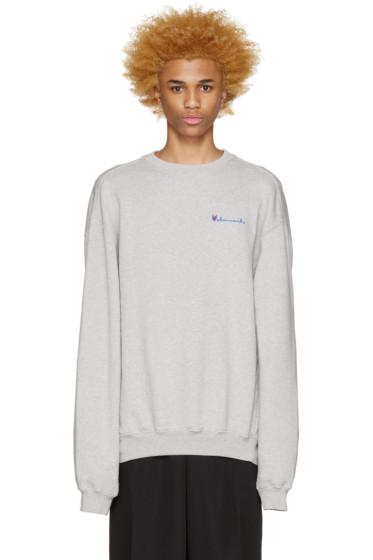 Vetements - Grey Logo Pullover
