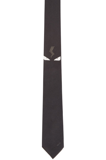 Fendi - Black Monster Eyes Tie