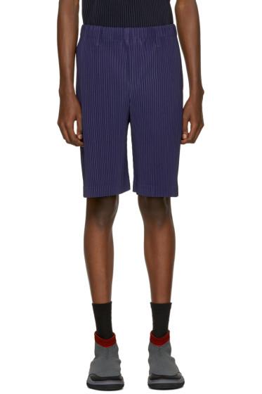 Homme Plissé Issey Miyake - Blue Pleated Shorts