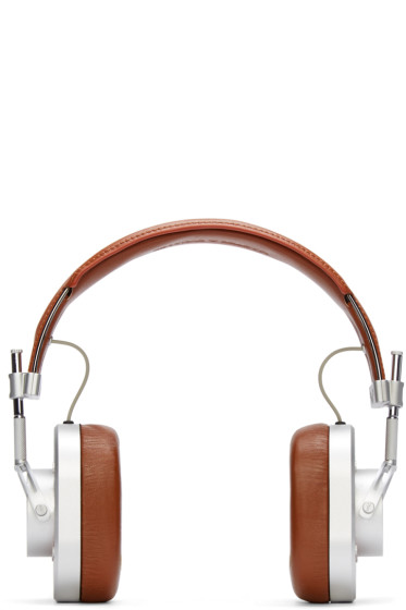 Master & Dynamic - Silver & Brown MH40 Headphones