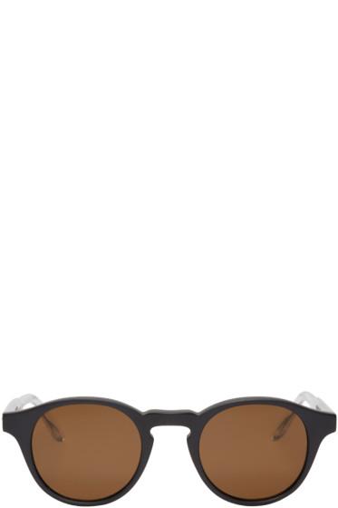 Bottega Veneta - Black Acetate Round Sunglasses