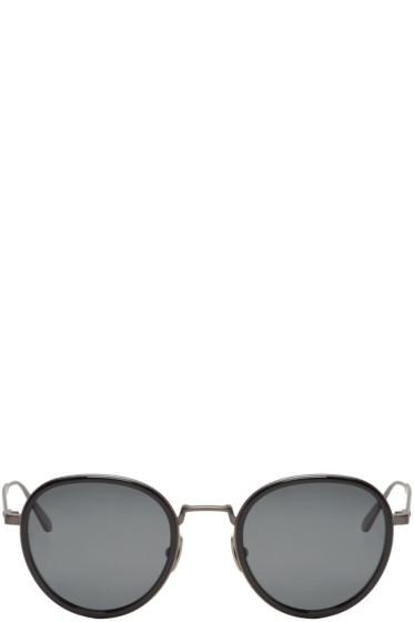 Bottega Veneta - Black Round Retro Sunglasses