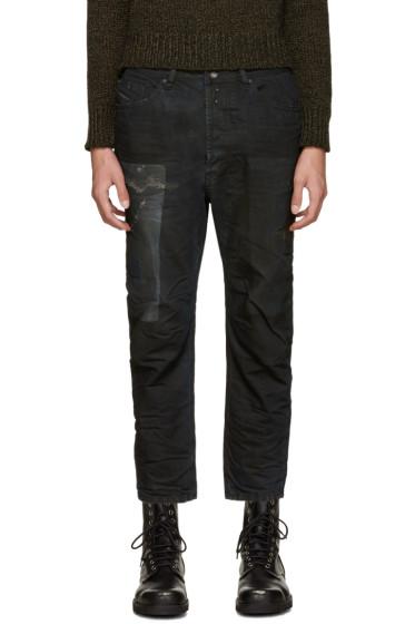 Diesel - Black Coated Narrot Jeans