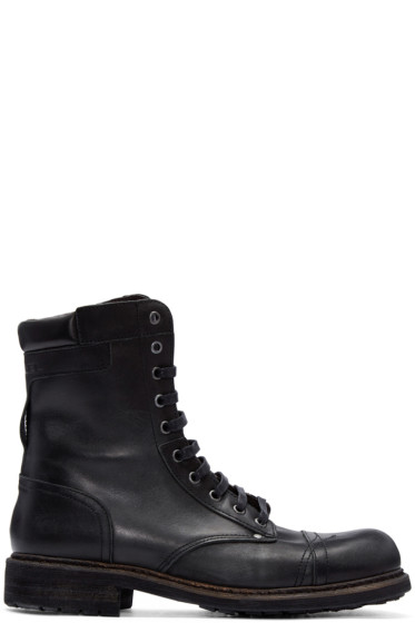 Diesel - Black Leather Cassidy Boots