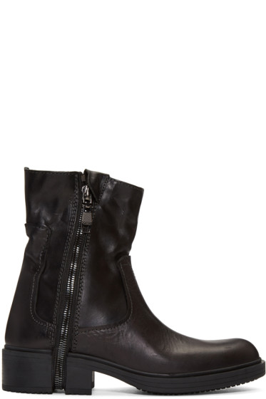 Diesel - Black Zip D-RR Boots