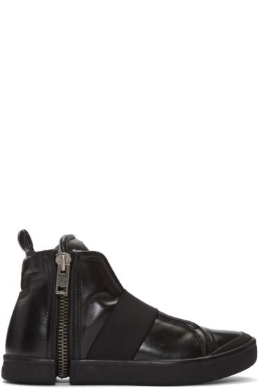 Diesel - Black S-Nentish Strap High-Top Sneakers