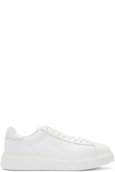 Diesel - White Leather S-Vsoul Sneakers