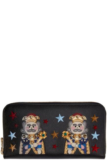Dolce & Gabbana - Black Leather Kings Wallet
