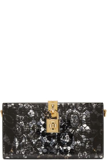 Dolce & Gabbana - Black Plexiglass Lace Clutch