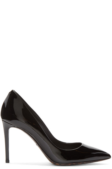 Dolce & Gabbana - Black Patent Leather Decollete Heel