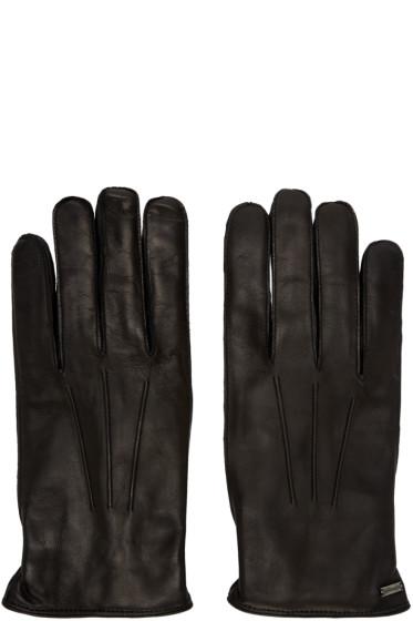 Dolce & Gabbana - Black Lambskin Gloves