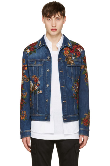 Dolce & Gabbana - Indigo Embroidered Denim Jacket