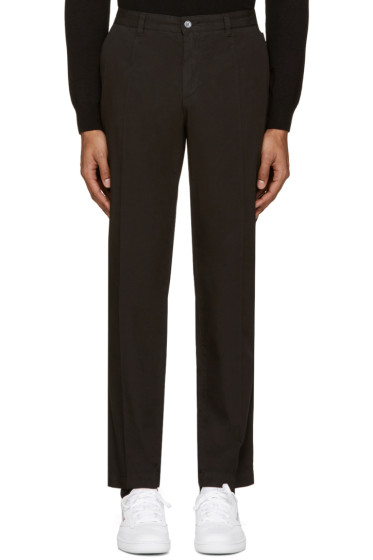 Dolce & Gabbana - Black Cotton Trousers