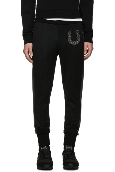 Dolce & Gabbana - Black Skinny Horseshoe Trousers