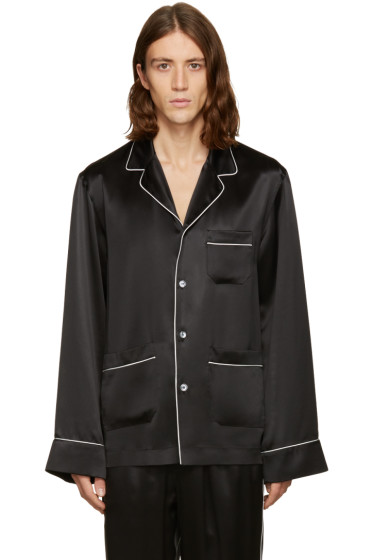 Dolce & Gabbana - Black Silk Pyjama Shirt