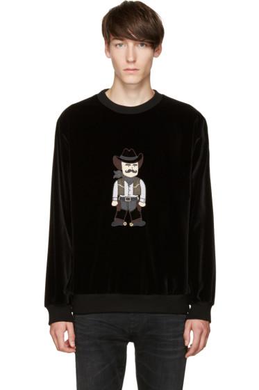 Dolce & Gabbana - Black Velvet Cowboy Pullover