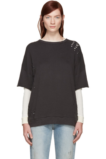 R13 - Black Layered Pullover