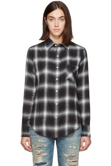R13 - Black Slim Boy Shirt