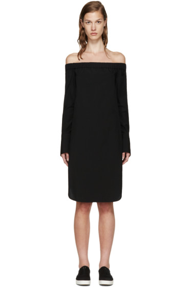 Rag & Bone - Black Off-The-Shoulder Kacy Dress