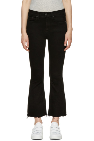 Rag & Bone - Black Crop Flare Jeans