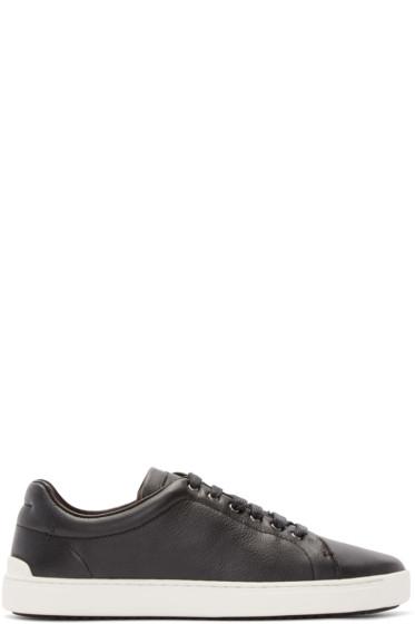 Rag & Bone - Black Leather Kent Sneakers