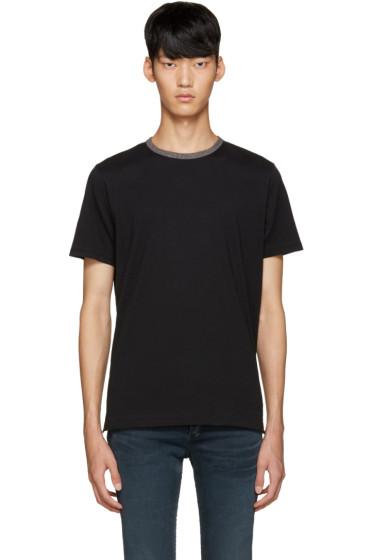 Rag & Bone - Black Jaspe Ringer T-Shirt
