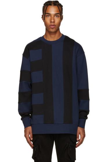 Diesel Black Gold - Blue & Black Bonded Pullover